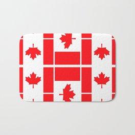 Canadian Flag Bath Mat
