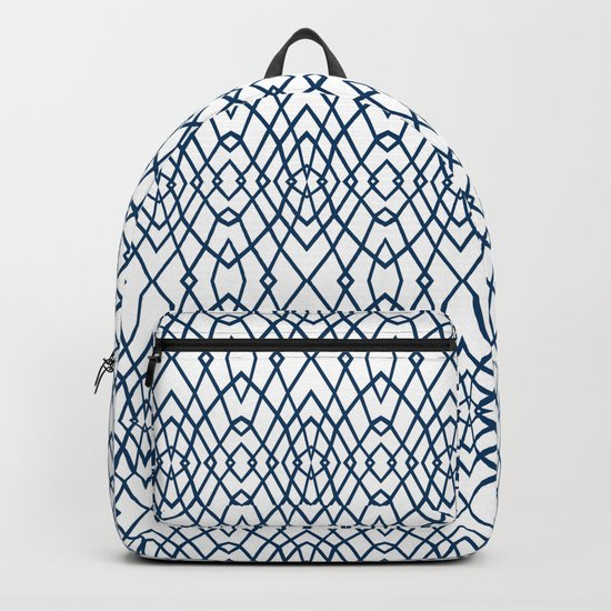 Web Navy Backpack