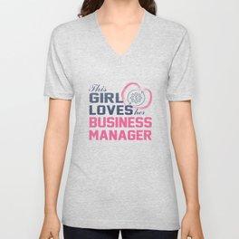 Loves Her Business Manager Unisex V-Neck