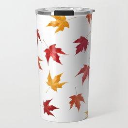 Fall Golden Leaves Travel Mug