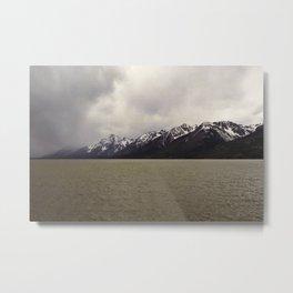 Mountain, Lake, Storm Metal Print