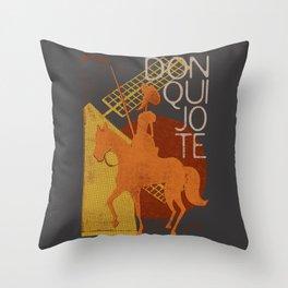 Books Collection: Don Quixote Throw Pillow