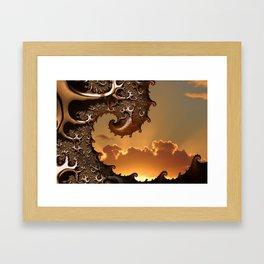 Golden Sunrise in Byron Bay Framed Art Print