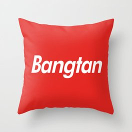 BTS Bangtan Box Logo Throw Pillow