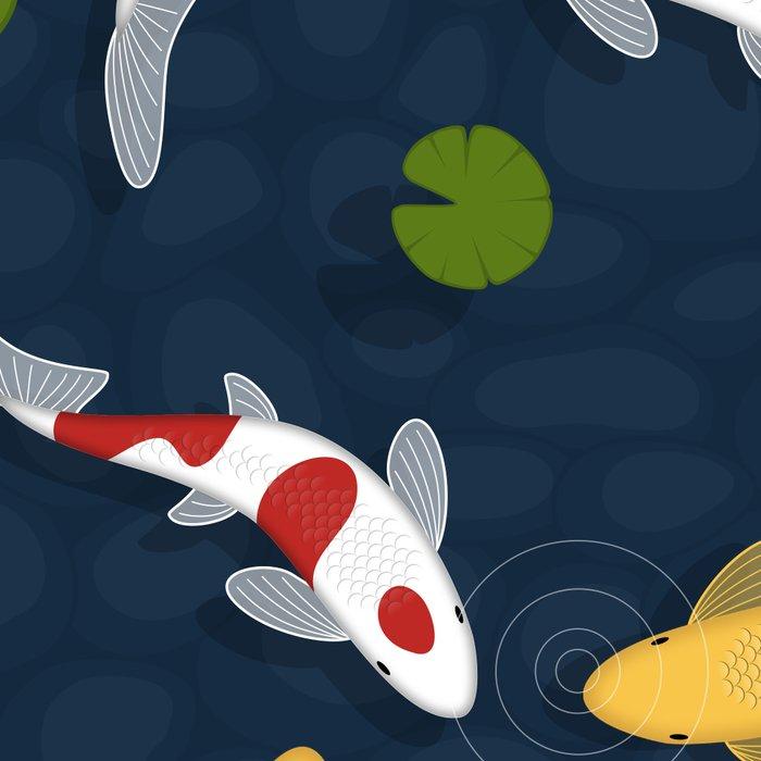 Japanese Koi Fish Pond Leggings