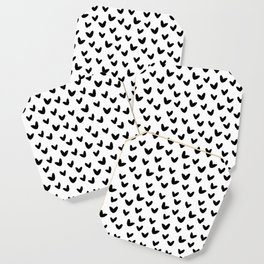 White & Black - Love Heart Pattern - Mix & Match with Simplicty of life Coaster