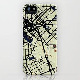 Dallas Street Map // Orange Theme iPhone Case
