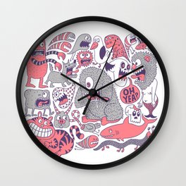 Ol' Doodle Wall Clock