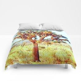 Joshua Tree VG Hills by CREYES Comforters