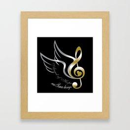 Angel of Hope Wings Framed Art Print