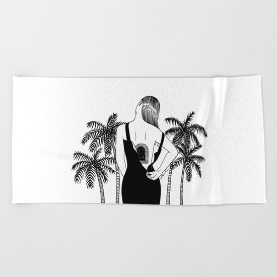 Come Into My World Beach Towel