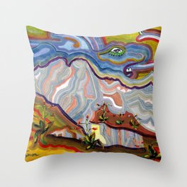 Earth Changes 1985 Throw Pillow