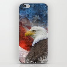 Standing Tall Patriotic Poster iPhone & iPod Skin
