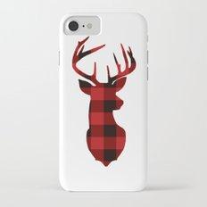 Red Buffalo Plaid Deer iPhone 7 Slim Case