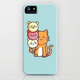 Kawaii Cute Cat and Micecream iPhone Case
