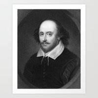 shakespeare Art Prints featuring William Shakespeare by Palazzo Art Gallery