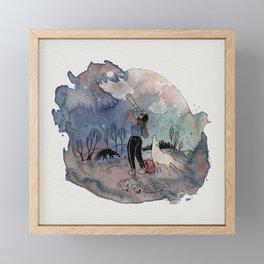 Full Moon Framed Mini Art Print