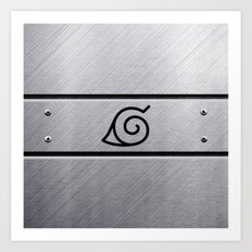 Naruto Headband Art Print
