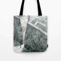 labyrinth Tote Bags featuring LABYRINTH by Daniele Vittadello