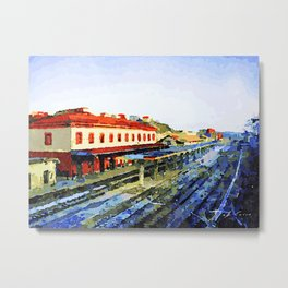 Catanzaro: railway station Metal Print
