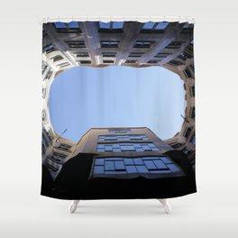 Barcelona Photography - Casa Mila La Pedrera Shower Curtain