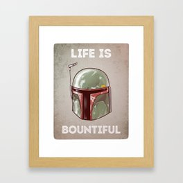 Life is Bountiful Framed Art Print