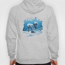 Two Manatees Swimming Hoody
