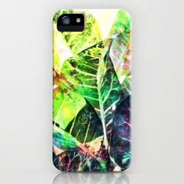 Splatter Leaves iPhone Case