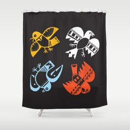 Hopi Four Directions - Tsiro (Bird) Shower Curtain
