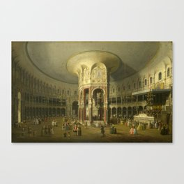 London, Interior of the Rotunda at Ranelagh by Canaletto Canvas Print