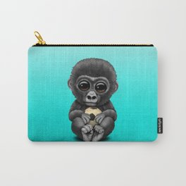Cute Baby Gorilla With Football Soccer Ball Carry-All Pouch