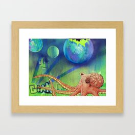 Octopus Universe  Framed Art Print