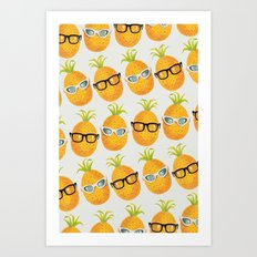 Pineapple Party! Art Print
