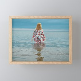Woman in the Water Framed Mini Art Print