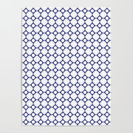 blue oriental pattern - seamless design orient style Poster