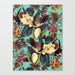 FLORAL AND BIRDS XXI Canvas Print
