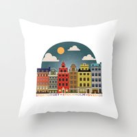 stockholm Throw Pillows featuring Stockholm by HOONISME