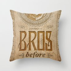 Super Mario Bros Before Hoes. Vintage Paper Banner. Throw Pillow