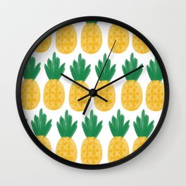 Pineapple Dreamin' Wall Clock