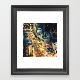 tokyo aerial street view Framed Art Print