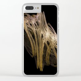 3D Fractal Tangle Clear iPhone Case