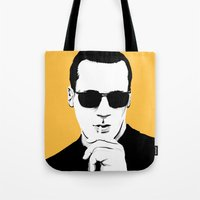mad men Tote Bags featuring Mad Men by Jeroen van de Ruit
