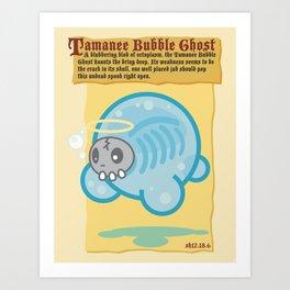 Tamanee Bubble Ghost Art Print