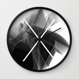 Typographic Treatment of the letter X. Dark Math X. Wall Clock