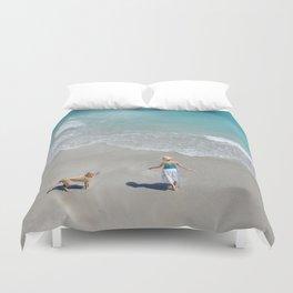 Morning on Clifton Beach Duvet Cover