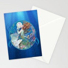 Sensual Art Deco Pearl Mermaid Stationery Cards