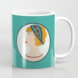 Art Deco Side Portrait Lady Coffee Mug