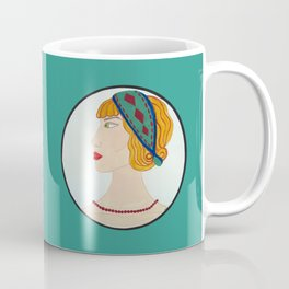 Art Deco Side Portrait Lady Coffee Mug