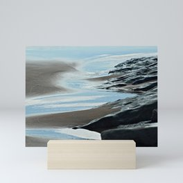 Coastal Landscape Cliffs Calm Sea Mini Art Print