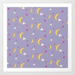 Usagi Tsukino Sheet Duvet - Sailor Moon Bunnies V2 Art Print